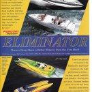 2003 Eliminator Boats Color Ad- Nice Photo of 210 & 280 Eagle- Daytona 27 & 36