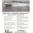 1946 Electric Boat Co Ad- Nice Photo of Elco 40 Cruiser