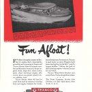 1946 Texaco Marine Products Ad- Drawing of Higgins Eureka Cruiser Boat