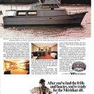 1976 Meridian 48 Yacht Color Ad- Nice Photo