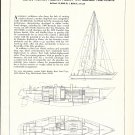 1976 Ted Hood Little Harbor Boat Yard 43' Centerboard Boat Ad- Boat Specs & Drawings