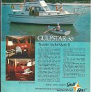 1976 Gulfstar 36 Trawler Yacht Mark II Color Ad- Nice Photo