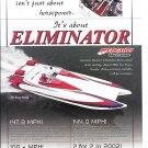 2002 Eliminator 30 Daytona Boat Color Ad- Nice Photo