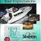 1995 Silverton 362 Sedan Cruiser Boat Color Ad- Nice Photo