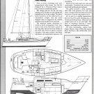 1986 Cal 28 Sailboat Review- Boat Specs & Drawings