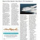 1996 Sea Ray 370 Sundancer Boat Review- Boat Specs & Photo