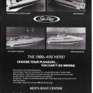 1986 Sea Ray Boats Ad- Photos of 5.6- 207- 210 & 250