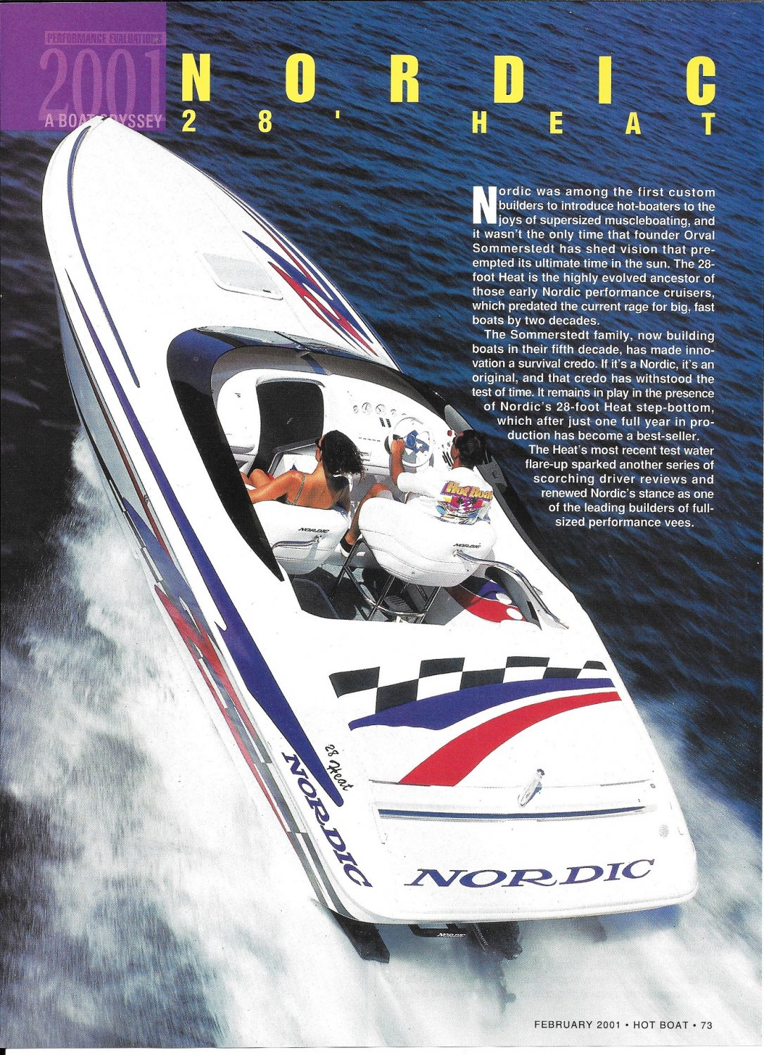 2001 Nordic 28 Heat Boat Review- Boat Specs & Great photos- Hot Girl