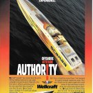 1997 Wellcraft Scarab Boat Color Ad- Great Photo