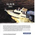 1996 Carver 400 Cockpit Motor Yacht Color Ad- Nice Photo
