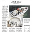 1996 Cobalt 23LS Boat Review- Nice Photo & Boat Specs