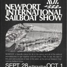 1972 Newport International Sailboat Show Ad- Nice Photo