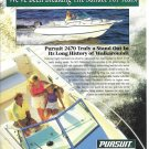 1997 Pursuit 2470 Trophy Walkaround Boat Color Ad- Nice Photo