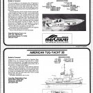 1984 Cigarette 38 & American Tug 38 New Boats Ad-Boat Specs-Photo-Drawing