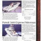 1997 Chaparral 232-Harris- Pursuit 2460 & 3400 2 Pg Boat Ad-Boat Specs & Photo