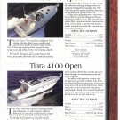 1997 Tiara 3700 & 4100- Bayliner 3587- Hatteras 43 Yachts 2 Pg Ad- Boat Specs & Photo