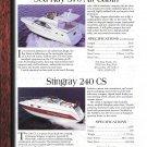 1997 Sea Ray 370 & 330- Pro- Line 2810- Stingray 240 CS Boat 2 Pg Ad- Boat Specs & Photo