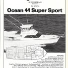 1986 Ocean 44 Super Sport Yacht Ad- Nice Photo