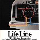 1986 Johnson VRO Outboaard Motors 2 page Color Ad- Nice Photo