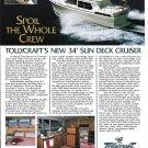 1986 Tollycraft 34 Sun Deck Cruiser Yacht Color Ad- Nice Photo