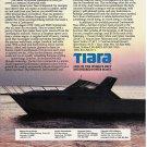 1986 Tiara 3600 Continental yacht Color Ad- Nice Photo