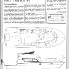 1986 Hatteras 41 Yacht Review- Boat Specs & Drawing