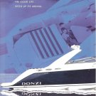 2001 Donzi Marine 39 ZSC Boat 2 Page Color Ad- Nice Photo