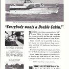 1962 Matthews 42 Double Cabin Flying Bridge Yacht Ad- Nice Photo