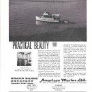 1970 American Marine LTD Grand Banks 32 Diesel Cruiser Boat Ad- Nice Photo