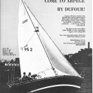 1970 Dufour 30' Arpege Sailboat Ad- Boat Specs & Nice Photo