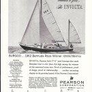 1962 Pearson Invicta Sailboat Ad- Nice Photo