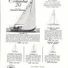 1962 Columbia 29 sailboat Ad- Photo