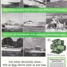 Old Onan Electric Ad- Photo of Roamer-Trumpy-Owens-Pacemaker-Chris-Craft-Hatteras-Matthews Boats
