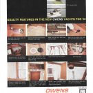 1961 Owens Yachts Color Ad- Photos of 29 & 35 Express