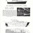 1961 Pearson 37 Yacht Review- Photo- Drawings & Boat Specs