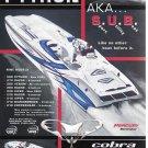 2005 Cobra Performance Boats Color Ad- Nice Photo Python 280