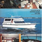 1984 Gulfstar 49 Motor Yacht 2 Page Color Ad- Nice Photos