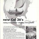 1967 Jensen Marine Cal 36 Sailboat Ad- Nice Photo