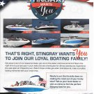 2021 Stingray Boats Color Ad- Photo of 6 Models