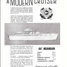 1955 Correct Craft 44' Miamian & Olympia Capri 2 Page Boats Ad- Drawings