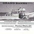 1969 American Marine LTD Grand Banks Diesel Cruiser Ad- Nice Photo