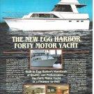 1981 Egg Harbor 40' Motor Yacht Color Ad- Nice Photo
