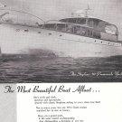 1950 Stephens Bros 70' Promenade Yacht Ad- Great Photo