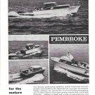 1963 Pembroke Boats Ad- Nice Photo 35- 30- 23- 28