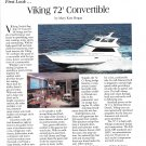 1996 Viking 72 Convertible Yacht Review- Photo