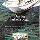 1972 Chris- Craft 31 Catalina Boat Color Ad- Nice Drawing- Hot Girl