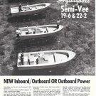 1972 Aquasport Boats Ad- Nice Photo Semi- Vee 19-6 &22-2