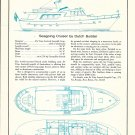 1972 De Vries Lentsch- Leopold 59 Cruiser Boat Ad- Boat Specs & Drawings