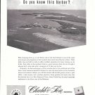1957 Chubb Insurance Ad- Nice Photo New Plymouth Town, Green Turtle Cay