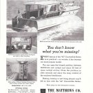 1957 Matthews 42 Convertible Sedan Yacht Ad- Nice Photos